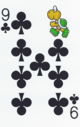 The Nine of Clubs card from the NAP-02 deck.