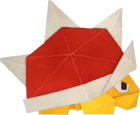 An origami Spiny from Paper Mario: The Origami King.