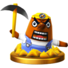 Resetti trophy from Super Smash Bros. for Wii U