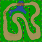 The map for Donut Plains 1.