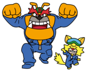 Artwork of Dribble and Spitz from WarioWare: Get It Together!