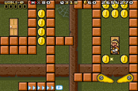 The level Doors o' Plenty from the game Super Mario Advance 4.