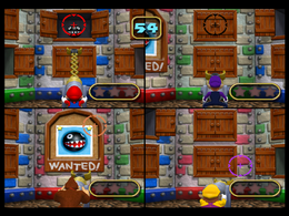 Chain Chomps are being seized in Long Claw of the Law in Mario Party 4.