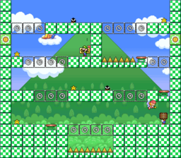 Level 3-4 map in the game Mario & Wario.