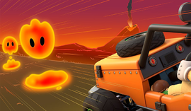 Ember Island course icon from Mario Kart Live: Home Circuit