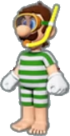 Luigi's Swimwear icon in Mario Kart Live: Home Circuit