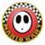 The icon of the Shy Guy Cup from Mario Kart Tour.
