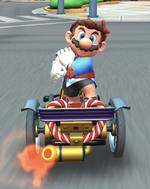 Mario (Happi) performing a trick.