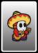 A Sombrero Guy card from Paper Mario: Color Splash