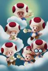 Tea Party Toads in Paper Mario: Color Splash
