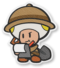 Professor Toad in Paper Mario: The Origami King