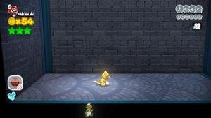 8-bit Luigi found in Bob-ombs Below in Super Mario 3D World.