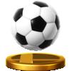 Soccer Ball's trophy render from Super Smash Bros. for Wii U