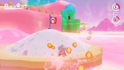 A screenshot of the Salt-Pile Isle in Super Mario Odyssey