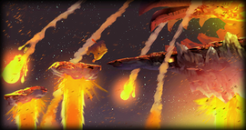 Concept art of Volcano Eruptions, as shown directly in-game from Donkey Kong Country Returns.