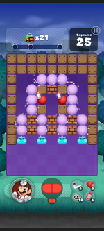 Stage 121 from Dr. Mario World