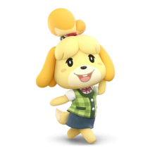 Isabelle's pose in super smash bros ultimate
