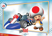 Mario Kart Wii trading card of Toad.