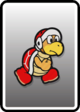 A Fire Bro card from Paper Mario: Color Splash