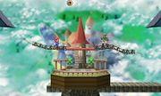 Peach's Castle in Super Smash Bros. for Nintendo 3DS