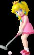 Princess Peach artwork from Mario Golf: World Tour.