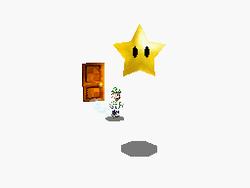Luigi finds a Power Star