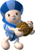 A Noki mother and her baby in Super Mario Sunshine.