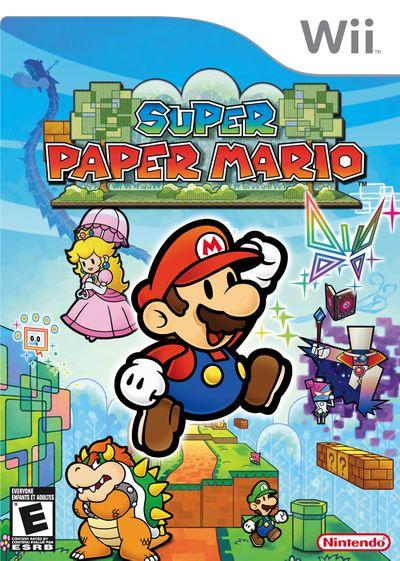 Super Paper Mario's american boxart for Wii.