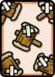 A Worn-Out Hammer ×5 Card in Paper Mario: Color Splash.
