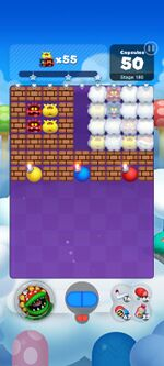 Stage 180 from Dr. Mario World since version 2.2.0