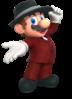Render of Mario's musician costume in Mario Kart Tour