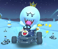 The icon of the Peach Cup challenge from the Sunset Tour in Mario Kart Tour