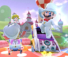 The icon of the Roy Cup challenge from the Wedding Tour in Mario Kart Tour