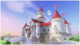 Screenshot of Peach's Castle as seen in Super Mario Odyssey