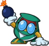 Artwork of a Peek-a-boom from Wario Land: Shake It!