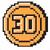 30-Coin icon from Super Mario Maker 2 (Super Mario Bros. 3 style)