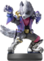 Wolf's amiibo from Super Smash Bros. Ultimate.