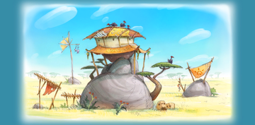 Concept artwork, unlocked in the Extras menu after collecting all Puzzle Pieces in Grassland Groove