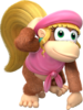 Dixie Kong artwork from Donkey Kong Country: Tropical Freeze.