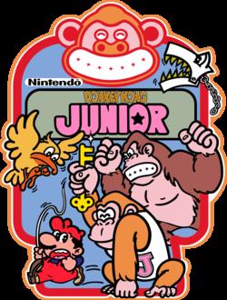 Donkey Kong Jr - cabinet side art