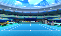 Overview of the Hard Court from Mario Sports Superstars