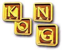 Artwork of K-O-N-G Letters from Donkey Kong Country 3: Dixie Kong's Double Trouble!