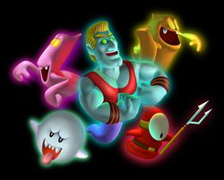 Ghosts artwork for Luigi's Mansion for Nintendo 3DS.