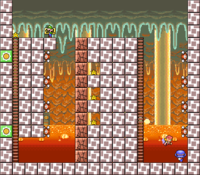 Level 5-5 map in the game Mario & Wario.