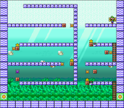 Level 6-6 map in the game Mario & Wario.