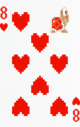 The Eight of Hearts card from the NAP-01 deck.