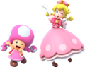New Super Mario Bros. U Deluxe Toadette & Peachette 01.png