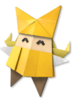 Artwork of Olivia being happy in Paper Mario: The Origami King