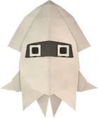 An origami Blooper from Paper Mario: The Origami King.