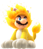 Art of Giga Cat Mario from Super Mario 3D World + Bowser's Fury